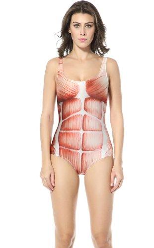 Ndb Muscle Print One Piece Swimsuit Swimwear Beach Cloth