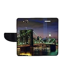 KolorEdge Printed Flip Cover For Huawei Honor Holly -Multicolor (50KeMLogo10885HonorHolly)