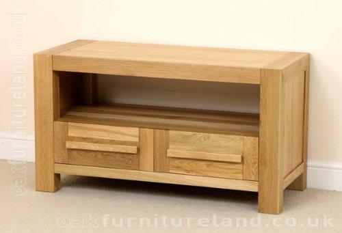 Fresco Natural Solid Oak 2 Drawer TV Cabinet Black Friday & Cyber Monday 2014
