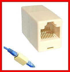 RJ45 CAT5 Network Cable Coupler / Extender / Jointer / Connector Jack - 5 Pec