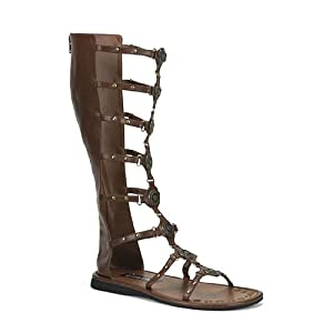 Roman-15 Sandal, Brown Pu, Size Medium(10/11) from Pleaser Shoes