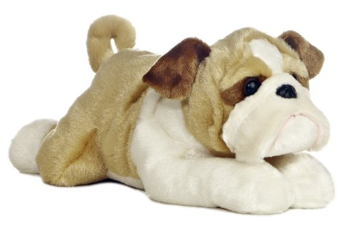 "Aurora World Flopsie 12"" Stuffed Bulldog Willis"