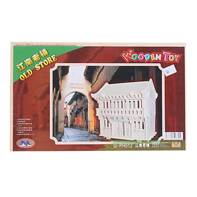 Old Store Diy Wooden 3D Architecture Puzzle Jigsaw front-738523