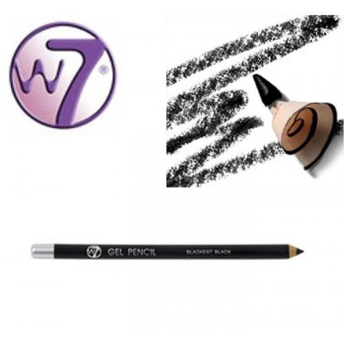 W7 Gel Eye Liner pencil - Blackest Black