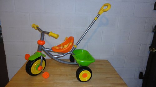 Full Metal Frame Childrens Trike, Two-Tone Color - Green / Orange