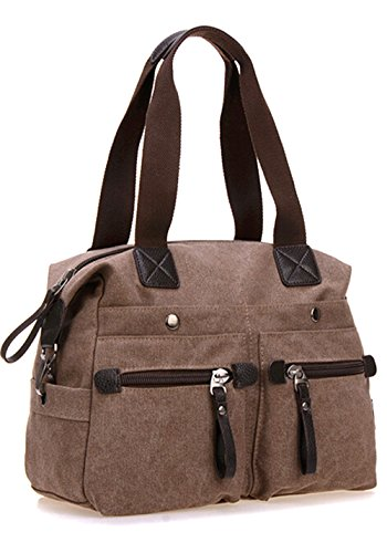 Bronze Times discount duty free Bronze Times (TM) Fashion Premium Canvas Crossbody Bag Tote Shoulder Bag (Purple)
