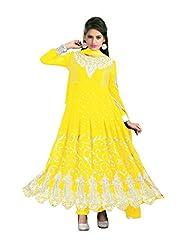 Trendz Apparels Pink 60 Gm Georgette Anarkali Suit Salwar Suit - B011KPE3MY