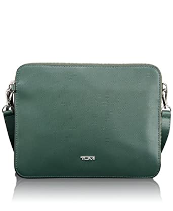 (58折)Tumi 多彩iPad真皮斜挎包Slim Zip Top Crossbody for I-Pad 浅棕$112.8