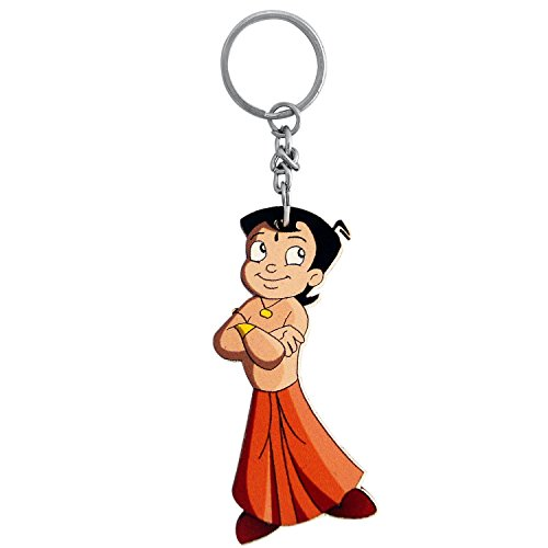 The Marketvilla Single Sided Wooden Keychains Chota Bheem Cartoon Keychain With Metal Key Ring For Kids , Boys & Girls  available at amazon for Rs.110