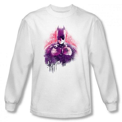 Dark Knight Rises - Batman Spray Paint Men's Long Sleeve T-Shirt
