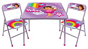 Dora The Explorer Square Table And Chair Set by Idea Nuova - LA