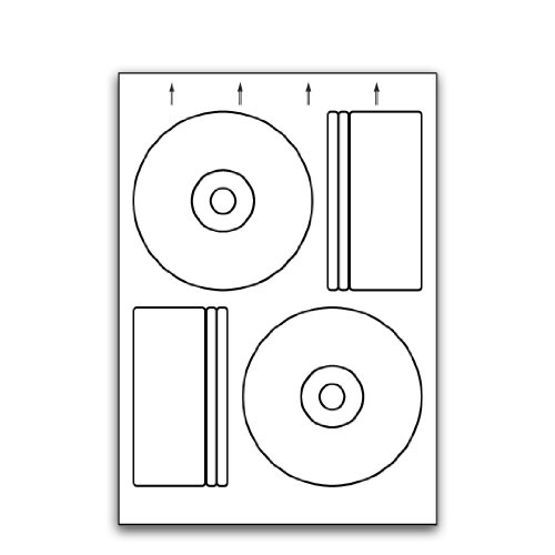 Multi Purpose White Permanent 118mm Pressit Compatible Cd/Dvd Labels - 25 Sheets 118mm x Diameter
