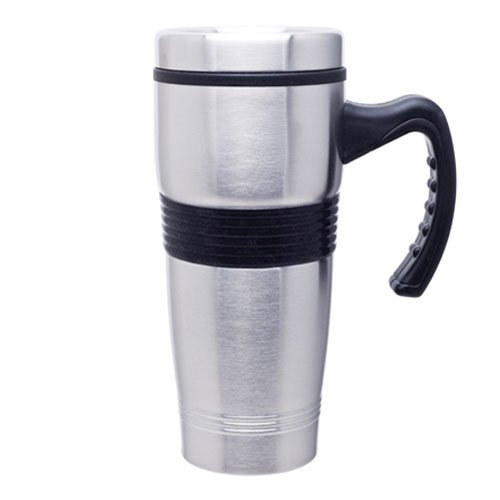 Stainless Travel Thermal Coffee Mug - Insulated Double Wall - 17Oz. Capacity