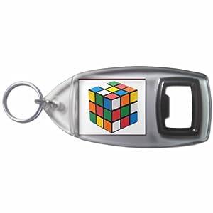 Rubiks Cube - Botella plástica del anillo dominante del abrelatas