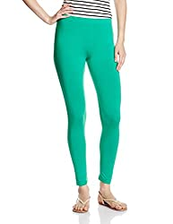 U.S.Polo Assn. Womens Slim Pants (UWKP0006_Simply Green_Large)