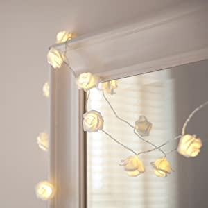 rose flower fairy lights by lights4fun kitchen home