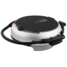 George Foreman GRP106BPP 360 Electric Nonstick Grill with 3 Interchangeable Grill Plates, Platinum