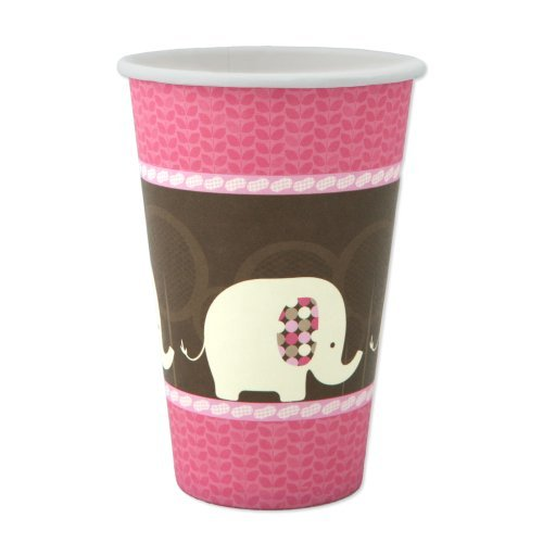 Pink Elephant - Hot & Cold Drinking Cups (8 count)