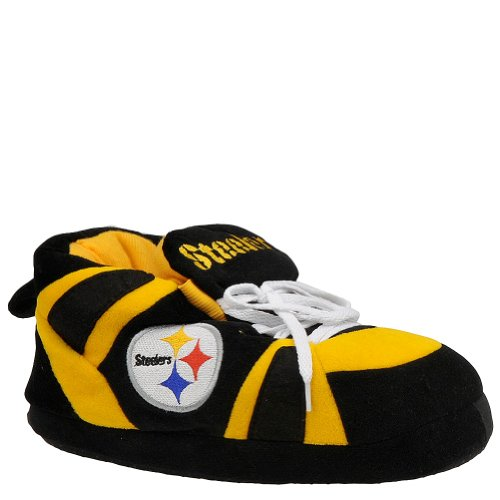 Comfy Feet NFL Sneaker Boot Slippers - Pittsburgh Steelers at Amazon.com
