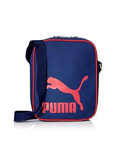 PUMA Men's Heritage Canvas Shoulder Bag, Navy