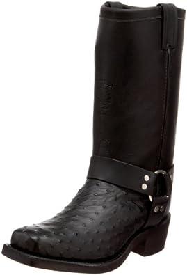 "Chippewa Men's 27895 12"" Ostrich Snip-Toe Harness,Black,7 EE US"