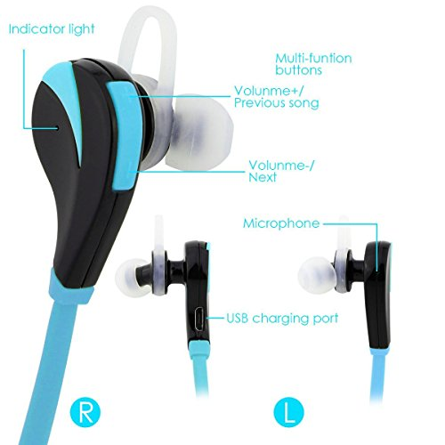 daydayup wireless bluetooth sport headphones noise cancelling headphones w m. Black Bedroom Furniture Sets. Home Design Ideas