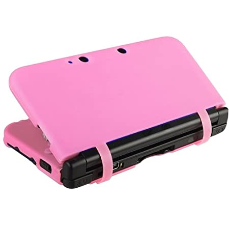 CommonByte For Nintendo 3DS XL Pink Silicone Skin Case Rubber Soft Cover