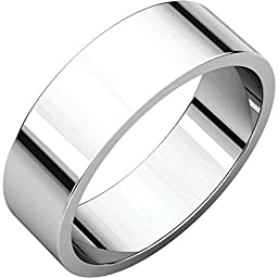 06.00 mm Flat Band in Platinum ( Size 7 )