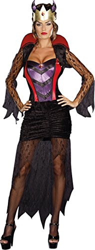 Dreamgirl Wicked Queen Dress, Black/Red, Small (Wicked Queen Costumes)