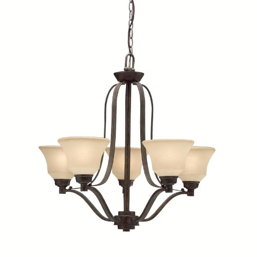 Awesome CST Langford LT Chandelier Canyon Slate Finish with Dusty Citrine Glass
