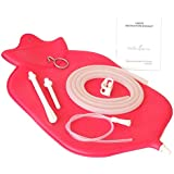 The Right Enema Bag - Large (4 Quart) for Deep Enemas | Open Fountain Top for Easy Cleaning & Hygiene - No Leaky Adapters or Bottle Converters; Hangs Upright - Pink