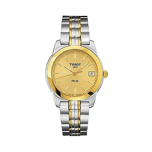 Amazon.com: Tissot Women's T34228121 Mini PR50 Gold Dial Watch