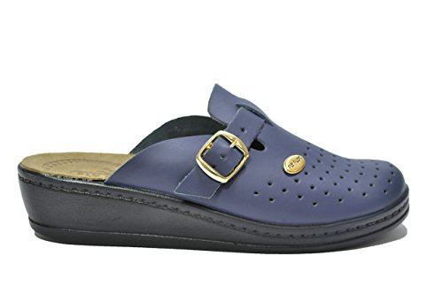 Fly Flot Ciabatte sanitarie blu scarpe donna 1570 37
