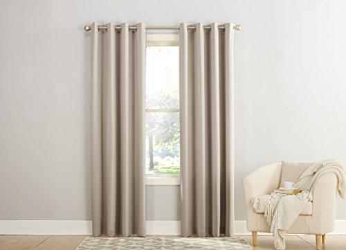 Sun Zero Barrow Energy Efficient Grommet Curtain Panel, 54 x 84 Inch, Stone Beige (Grommet Panel Curtains compare prices)