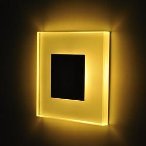 5er Set LED Design Warmweiß SUNLED 100x100mm GlasAlu Hochwertig Treppenlicht Wand Stufen Treppen Beleuchtung  BaumarktKritiken und weitere Infos