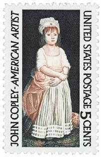 #1273 - 1965 5c John Singleton Copley U. S. Postage Stamp Plate Block (4)
