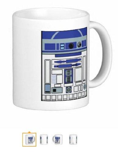 Pair Of R2D2 15 Ounce Coffee Mugs - Custom Coffee / Tea Cups - Dishwasher And Microwave Safe