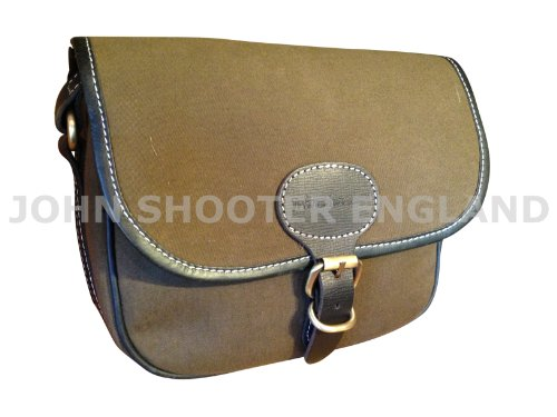 JOHN SHOOTER CANVAS SHOTGUN CARTRIDGE BAG