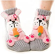 Christmas thick socks Ms Floor socks Slip Warm Cartoon Gift Creative Cute Wool socks Rabbit