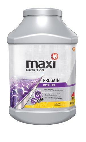 MaxiNutrition formerly Maximuscle Progain 2000 g Banana Mass and Strength Shake Powder