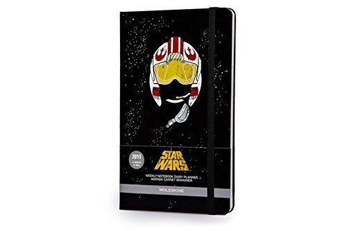 Moleskine 2015 Star Wars Limited Edition Weekly Notebook, 12M, Large, Black, Hard Cover (5 x 8.25) (Moleskine Star Wars)