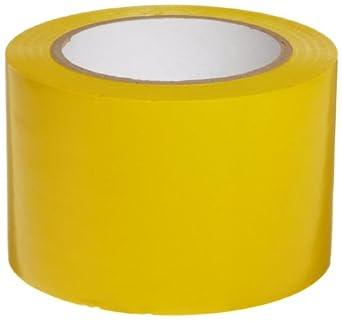 "Brady 108' Length, 3"" Width, B-725 Vinyl Tape, Yellow Color Aisle Marking Tape"