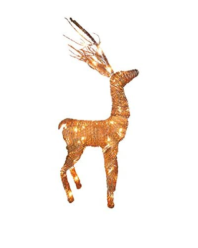 National Tree Company 40.5 Rattan Standing Reindeer