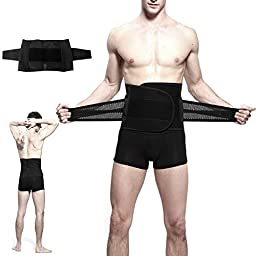 Waist Trimmer, Danibos Adjustable Trim Belt Lose Weight Lower Back & Lumbar Supports, Effortless Waist Slimming for Men and Women in Black, ONLY Fits for Waist From 30\