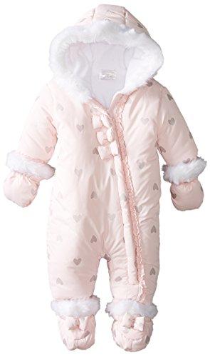 Absorba Baby-Girls Newborn G Microfiber Snowsuit, Pink, 0-3 Months front-1076523