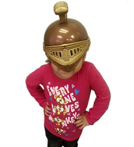Child Size Gladiator Costume Gold Plastic Roman Helmet