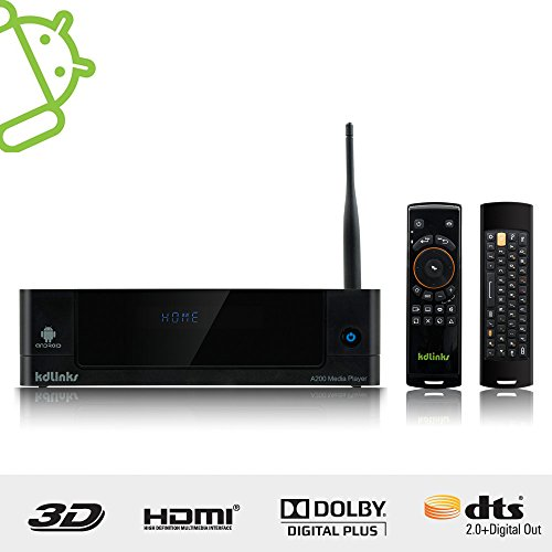 Best Deals! KDLINKS® A200 Android 3D Smart 1080P Network HD TV Media Player with HDD Bay, WIFI, DOL...