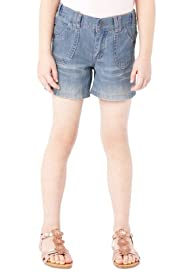 Pure Cotton Adjustable Waist Denim Shorts [T77-4335T-S]