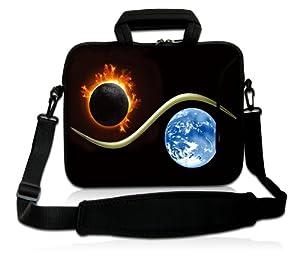 Luxburg® Design Laptoptasche Notebooktasche Sleeve mit Schultergurt und Fach für 15,6 Zoll, Motiv: Yin Yang