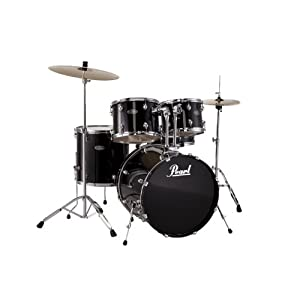 Pearl CenterStage Drum Kit (12, 13, 16, 22, 14×5.5) with Jet Black Hardware (Cymbals Not Included)